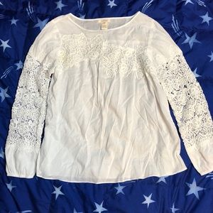 Sundance Top Sz M Blouse Cotton Lace